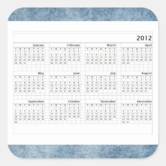 Classic  2012 Calendar Square Sticker