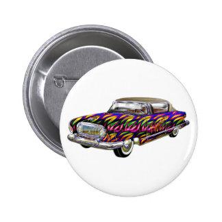 Classic 2 door hard top car pinback button