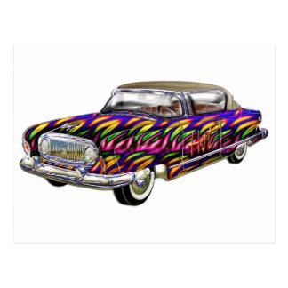 Classic 2 door hard top car postcard