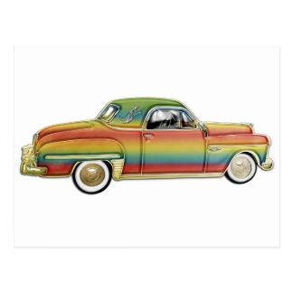 Classic 2 door hard top custom car postcards