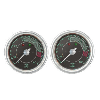 Classic 356 rev counter, old air-cooled sports car cufflinks