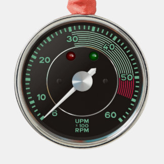 Classic 356 rev counter, old air-cooled sports car metal ornament