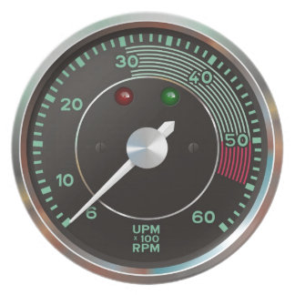 Classic 356 rev counter, old air-cooled sports car plate