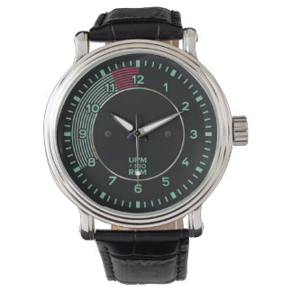 Classic 356 rev counter, old air-cooled sports car wrist watch