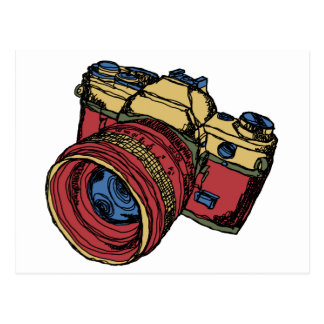 Classic 35mm SLR Camera Design Postcard