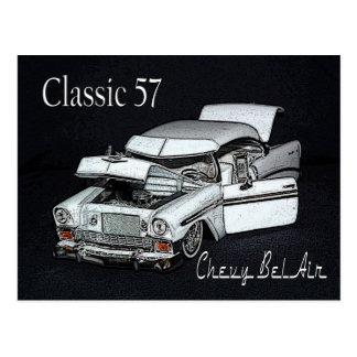 Classic 57 Chevy Bel Air Postcard