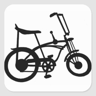CLASSIC 60'S BIKE BICYLE SCHWINN STINGRAY BIKE SQUARE STICKER