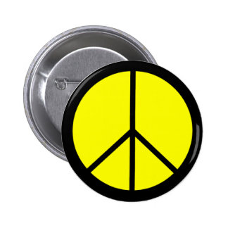 Classic 60s Groovy Peace Symbol Pinback Button
