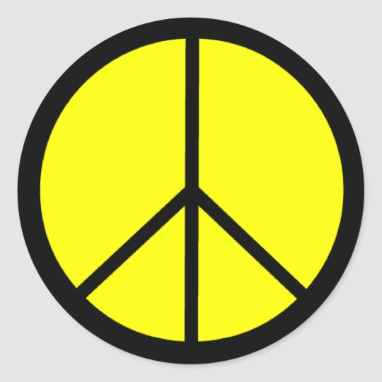 Classic 60s Groovy Peace Symbol Classic Round Sticker