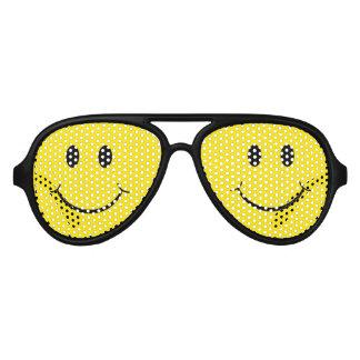 Classic 70's Smiley Happy Face Aviator Sunglasses