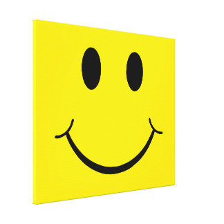 Classic 70's Smiley Happy Face Canvas Print