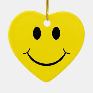Classic 70's Smiley Happy Face Ceramic Ornament
