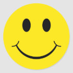 Classic 70's Smiley Happy Face Classic Round Sticker