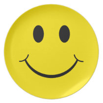 Classic 70's Yellow Happy Face Plate