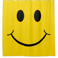 Classic 70's Yellow Happy Face Shower Curtain