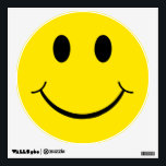 """Classic 70&#39;s Yellow Happy Face Wall Decal<br><div class=""""desc"""">Original 70&#39;s Happy Face. Put one on and start your day right.</div>"""