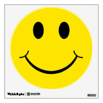 Classic 70's Yellow Happy Face Wall Decal