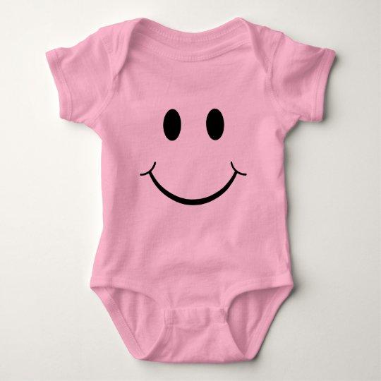 Classic 70's Yellow Smiley Happy Face Baby Bodysuit