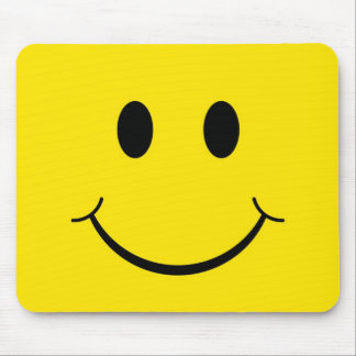 Classic 70's Yellow Smiley Happy Face Mouse Pad