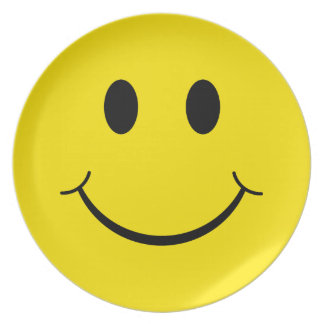 Classic 70's Yellow Smiley Happy Face Plate