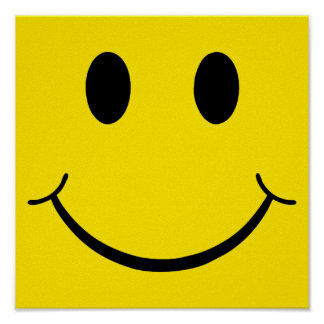 Classic 70's Yellow Smiley Happy Face Poster