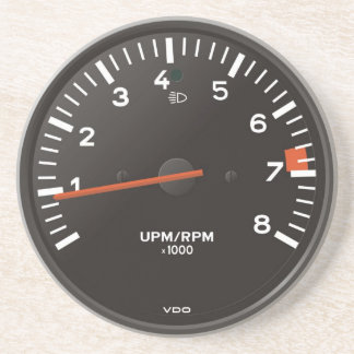 Classic 911 rev counter (old air-cooled car) sandstone coaster