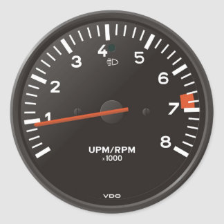 Classic 911 rev counter (old air-cooled car) classic round sticker