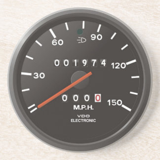 Classic 911 speedometer (old air-cooled car) beverage coaster