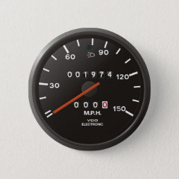 Classic 911 speedometer (old air-cooled car) pinback button