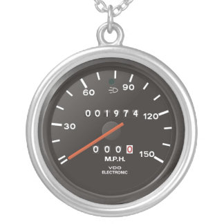Classic 911 speedometer (old air-cooled car) round pendant necklace
