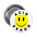 Classic Acid House Smiley Button