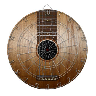 Classic Acoustic Guitar Dartboard With Darts