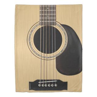 Classic Acoustic Guitar Duvet Cover at Zazzle