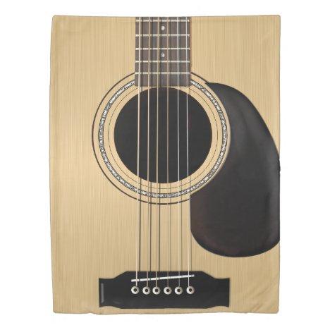 Classic Acoustic Guitar Duvet Cover