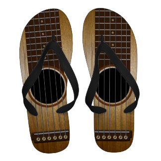 Classic Acoustic Guitar Flip Flops
