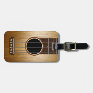 Classic Acoustic Guitar Personalized Luggage Tag