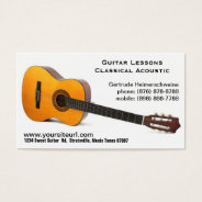 Classic Acoustic Guitar Photo - Music Lessons Business Card at Zazzle