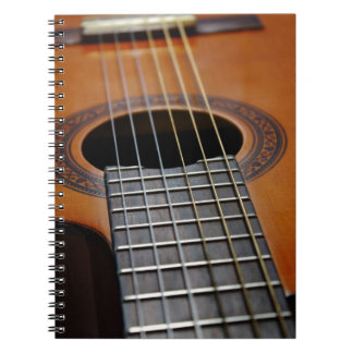 Classic Acoustic Guitar Spiral Notebook