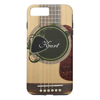 Classic Acoustic Guitar with custom monogram name iPhone 7 Plus Case