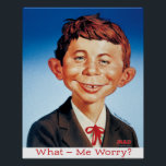 """Classic Alfred Poster<br><div class=""""desc"""">A full color poster of Alfred E. Neuman&#39;s first appearance on a MAD cover. Illustrated by Norman Mingo. From the cover of #30.</div>"""