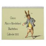 Classic Alice in Wonderland Calendar