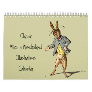 Classic Alice in Wonderland Calendar 2012
