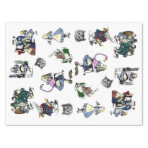 Classic Alice in Wonderland Rabbit Cheshire Cat Tissue Paper