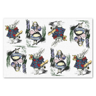 "Classic Alice in Wonderland & White Rabbit 10"" X 15"" Tissue Paper"