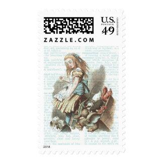 Classic Alice Wonderland Children's Book Vintage Stamp