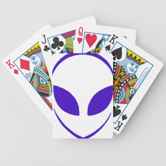 Classic Alien purple Bicycle Playing Cards