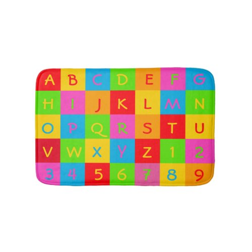 Classic Alphabet and Number Mat, Via Zazzle