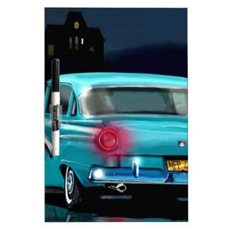 Classic American 50 S Style Automobile Dry Erase White Board