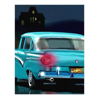 Classic American 50 S Style Automobile Custom Letterhead