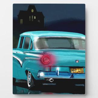 Classic American 50'S Style Automobile. Photo Plaque